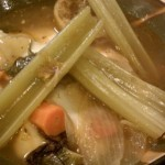Recipe for home made chicken soup from leftovers This luscious soup was made from a leftover roasted